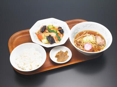 青梗菜と豚肉のオイスターソース炒め(セット)|中華料理 東京五十番