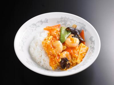 えびと卵のチリソース丼|中華料理 東京五十番